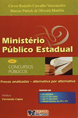 9788576600503: Ministério Público Estadual - Provas Analisadas - Série Concursos Públicos (Em Portuguese do Brasil)