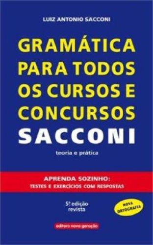9788576781080: Gram‡tica para Todos os Cursos e Concursos Saccomani: Teoria e Pr‡tica