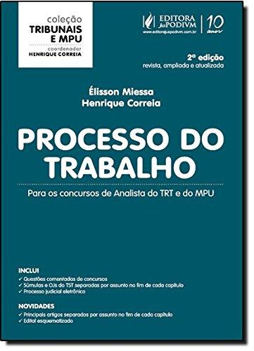 9788577618569: Processo Do Trabalho. Para Concursos De Analista Do TRT E Do MPU - Coleção Tribunais E MPU (Em Portuguese do Brasil)