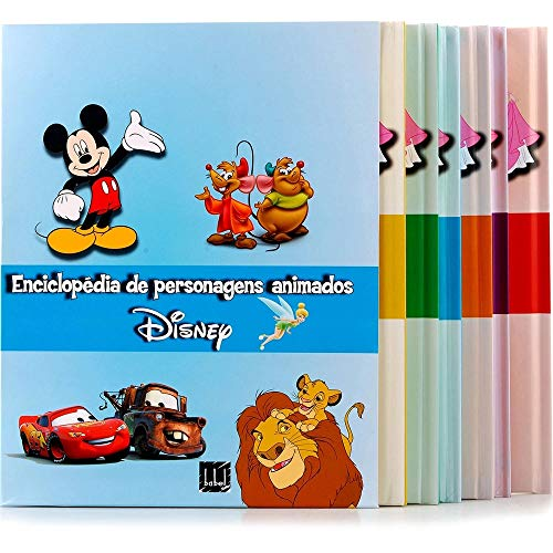 9788581110790: Enciclopedia de Personagens Animados: Disney Pixar - 6 Volumes