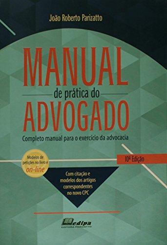 9788582280164: Manual de Prática do Advogado (Em Portuguese do Brasil)