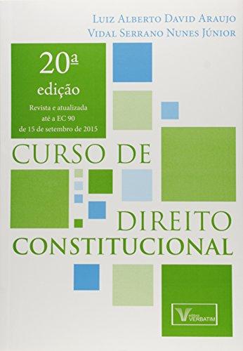 9788583990307: Curso de Direito Constitucional