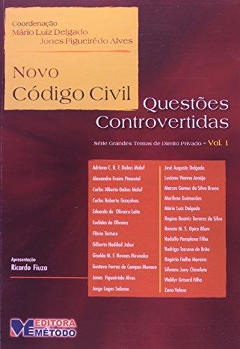 9788586456602: Novo C�digo Civil Quest�es Controvertidas- Volume 1 (Em Portuguese do Brasil)
