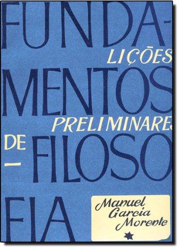 9788587068071: Fundamentos de Filosofia. Lições Preliminares (Em Portuguese do Brasil)