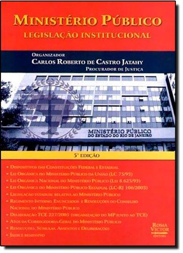 9788589127998: Ministério Público: Legislação Institucional (Em Portuguese do Brasil)