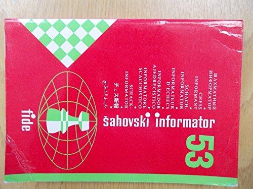 9788672970265 Sahovski Informator Chess Informant 53 X 1991 I
