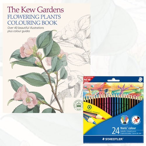 9788674004098 The Kew Gardens Flowering Plants Colouring Book With Pencil
