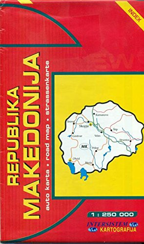 Republika Makedonija, avto karta: 1:250.000, indeks =: Intersistem kartografija (Firm)