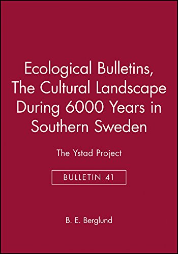 9788716110497: Ecological Bulletins, The Cultural Landscape During 6000 Years in Southern Sweden: The Ystad Project