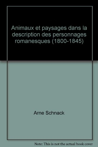 9788750018889: Animaux et paysages dans la description des personnages romanesques (1800-1845)