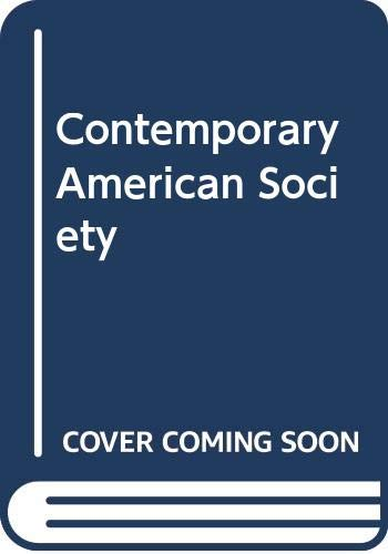 9788750030980: Contemporary American Society