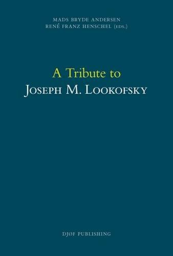 9788757435252: A Tribute to Joseph M. Lookofsky