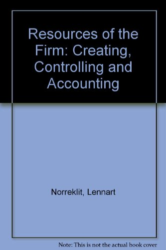 9788757476804: Resources of the Firm: Creating, Controlling and Accounting