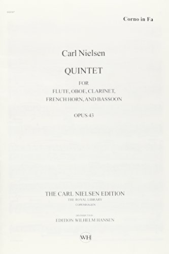 QUINTET FOR WINDS OP. 43 FL/CL/OB/FH/BSN REVISED CRITICAL EDITION PARTS: Carl ...