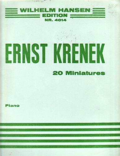 20 Miniaturen für Klavier (1954): Ernst Krenek