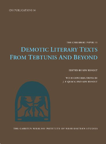 9788763526074: Demotic Literature Texts: From Tebtunis & Beyond (Carsten Niebuhr Institute Publications)