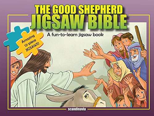 9788772476407: Jesus, The Good Shepherd-Children Games-Jesus Christ Bible Puzzles-Bible Story Book for Children Jigsaw Puzzle Board Book-Happy Birthday Jesus-Jesus ... Cover (Jigsaw Bible)