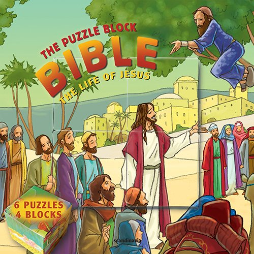 9788772477039: Bible Game for Kid's, The Life of Jesus: The Puzzle Block Bible (Puzzle Block Bible) Hardcover (Puzzle Block Bibles)