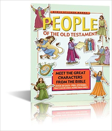 9788772478517: People of the Old Testament Bible Story Book for Children - Bible Games - Bible Sticker Book with reusable stickers - Paperback