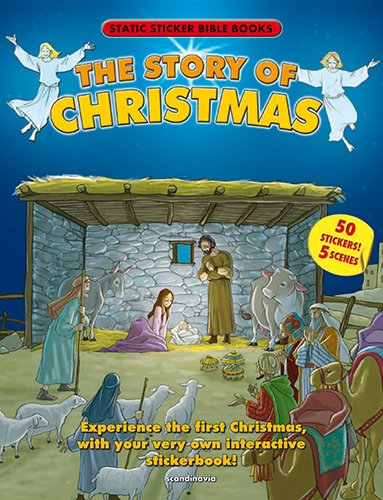 9788772479132: Christmas- The Story of Christmas Reusable Static Sticker-Children s Bible-Christmas Carol-Christmas Gifts-Angels-Baby Jesus-Joseph-Mary-Manger-Bright ... 2nd Edition Soft Cover (Static Sticker Bible)