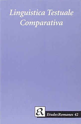 Linguistica Testuale Comparativa: In Memoriam Maria-Elisabeth Conte (Paperback): Francesco Sabatini...