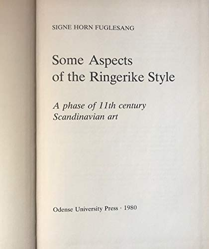 9788774921837: Some Aspects of the Ringerike Style: A Phase of 11th Century Scandinavian Art (Mediaeval Scandinavia Supplements)