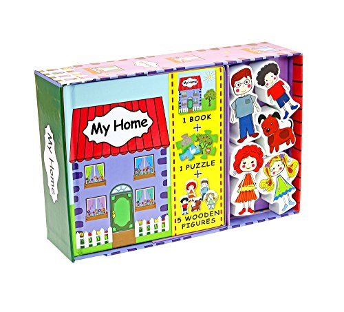 My Little Village: My Home (Book, Wooden Toy & 16-piece Puzzle): Globe Publishing