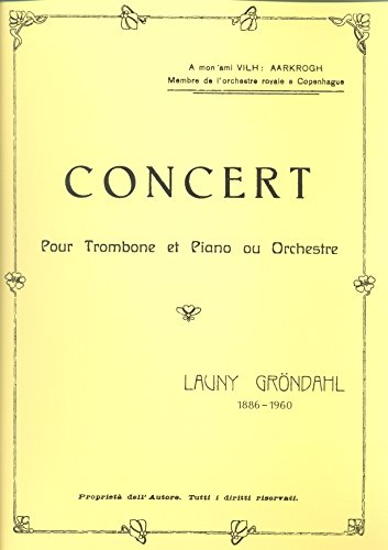 9788790056759: Grondahl: Concerto - Trombone
