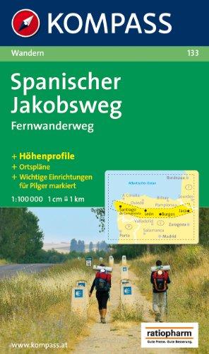 9788791104206: Way of St. James (Camino de Santiago, Spain) 1:100,000 Hiking Map, waterproof KOMPASS