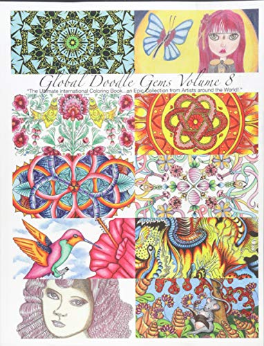 """9788793385351: Global Doodle Gems Volume 8:""""The Ultimate Adult Coloring Book.an Epic Collection from Artists around the World! """""""