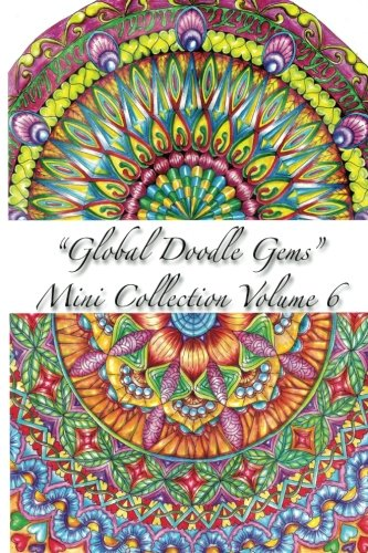 """9788793385467: """"Global Doodle Gems"""" Mini Collection Volume 6: Adult Coloring Book """"Pocket Gems for you to bring along !"""""""