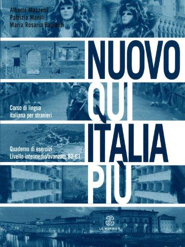 9788800205924: Nuovo Qui Italia più. Corso di lingua italiana per stranieri. Quaderno per lo studente