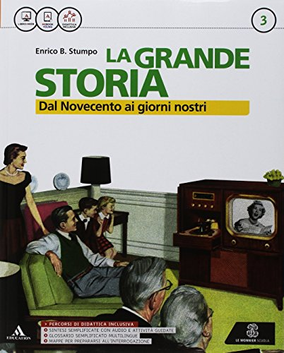 9788800348164: La grande storia. Per la Scuola media. Con e-book. Con espansione online. Con 2 libri: Grandi temi '900-Atlante: 3
