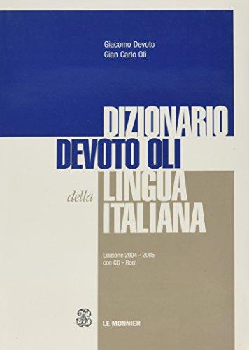 9788800510882: le monnier le monnier italian dictionary devoto oils with cd-rom and 2004