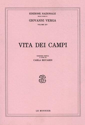 9788800811415: Vita dei campi (Edizione nazionale delle opere di Giovanni Verga) (Italian Edition)