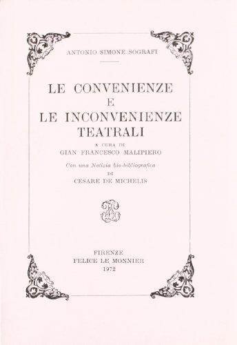 Le convenienze e le inconvenienze teatrali: Sografi, Antonio Simeone