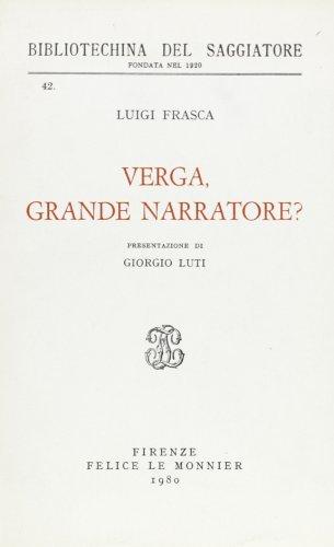 Verga, grande narratore?: Frasca,Luigi.