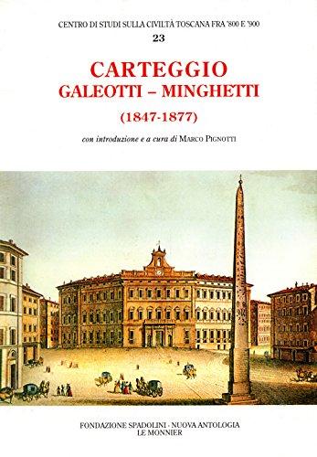 9788800841252: Carteggio (1847-1877)
