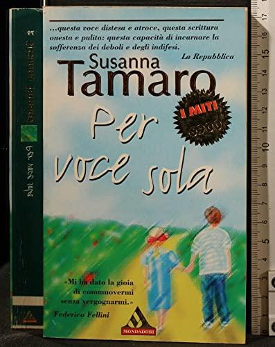 9788804437697: Per Voce Sola (Italian Edition)