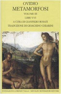 9788804583486: Metamorfosi. Testo latino a fronte vol. 3 - Libri V-VI