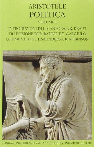9788804634966: Politica. Testo greco a fronte vol. 1 - Libri I-IV