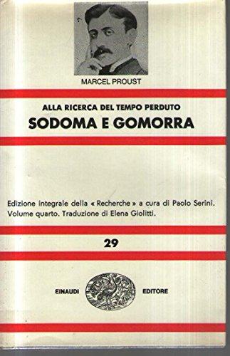 9788806123956: Alla ricerca del tempo perduto. Sodoma e Gomorra: 2