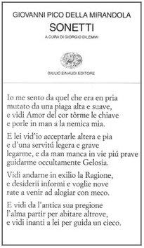 Sonetti (Collezione di poesia) (English, Italian and Italian Edition) (8806129260) by Giovanni Pico Della Mirandola