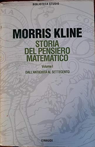 9788806137540: Storia del pensiero matematico: 1 (Biblioteca studio)