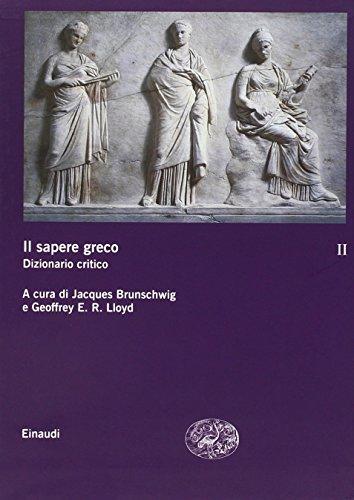 Il sapere greco. Dizionario critico (Hardback)