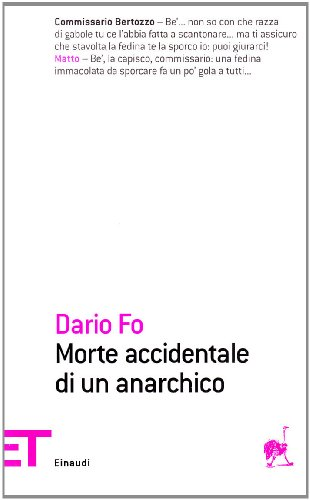 9788806187538: Morte accidentale di un anarchico