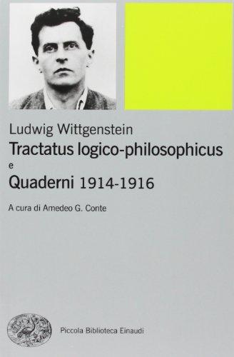 9788806200312: Tractatus logico-philosophicus e Quaderni 1914-1916