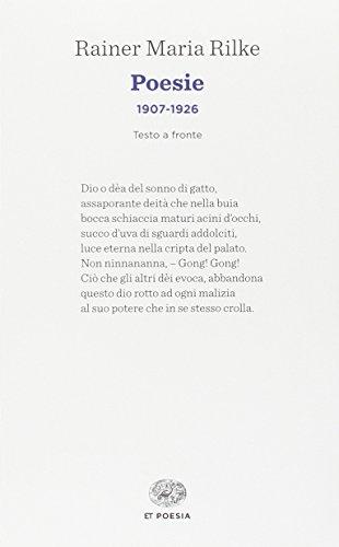 9788806223281: Poesie (1907-1926). Testo tedesco a fronte