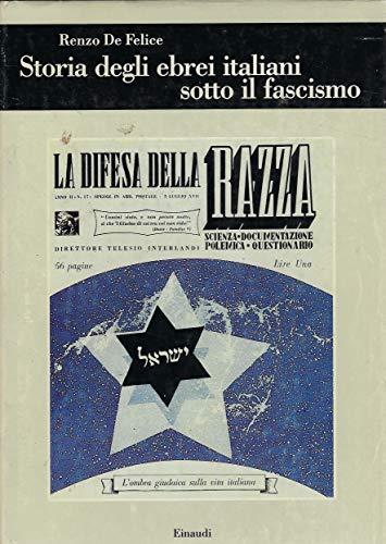 Storia degli ebrei italiani sotto il fascismo: De Felice, Renzo