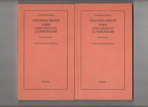 Versi,Caio Gracco,La Feroniade.: Monti,Vincenzo.